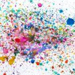 Mixed Colour Ink Splatter