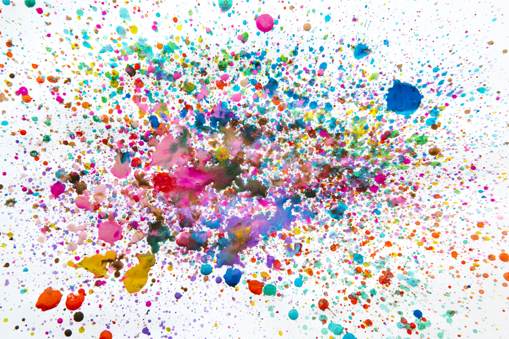 Mixed Colour Ink Splatter