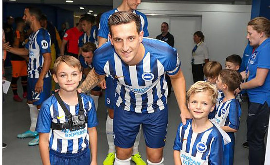 Lewis Dunk With Football Mascots