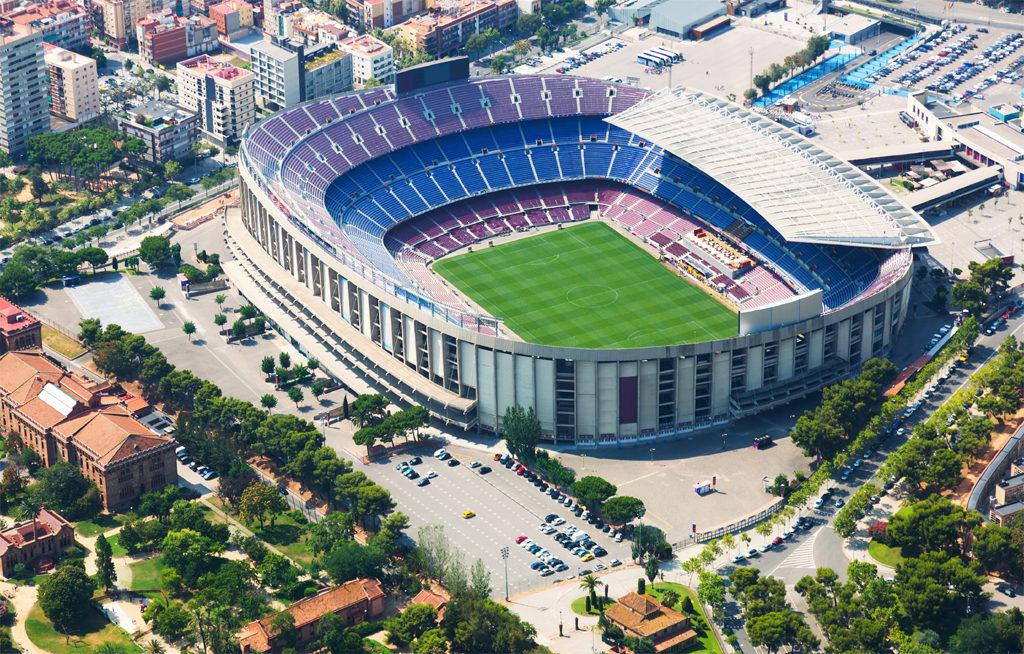 Aerial Image Barcelona Football Club
