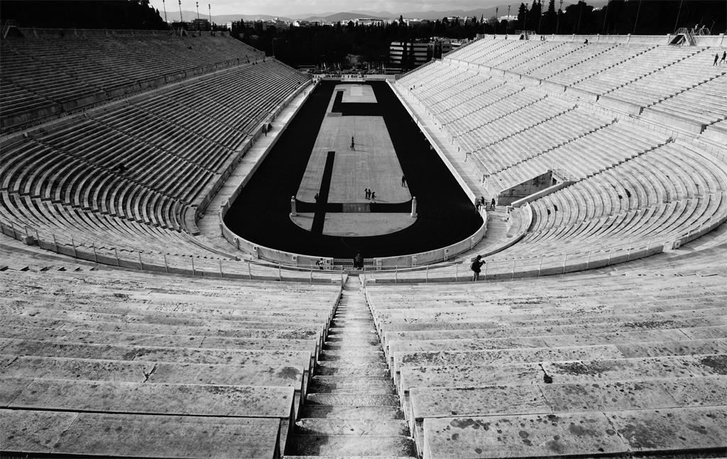 black white football ground