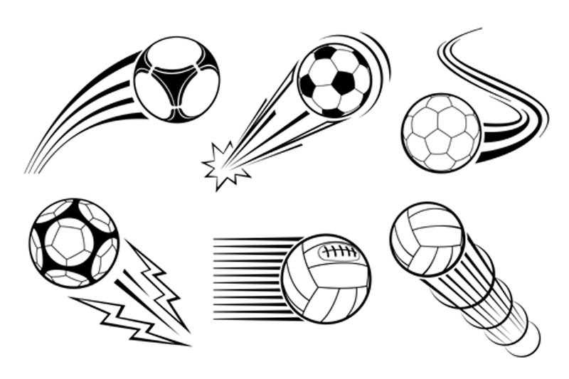 Footballs In Motion image
