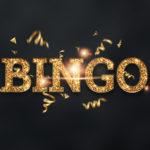 Gold Bingo Game Sign Example