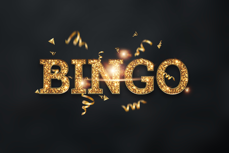 Gold Bingo Game Sign Example